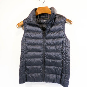 XS Uniqlo Down-filled Navy Blue Puffer Vest
